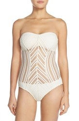 Women's Robin Piccone 'Mitered' One Piece Swimsuit