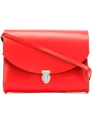The Cambridge Satchel Company Large Pushlock Crossbody Bag Red