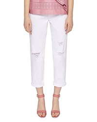 Ted Baker Cottoned On Arriana Bleached Slim Boyfriend Jeans In White