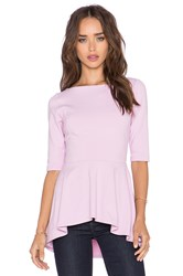 Susana Monaco Low Back Flare Top Pink