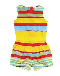 Little Marc Jacobs Sleeveless Striped Crepe Romper Multicolor Size 12 18 Months Size 12 Months Multi Colors