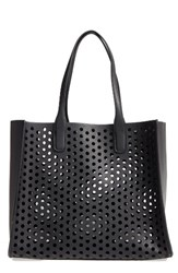 Emperia Romy Perforated Faux Leather Tote And Pouch
