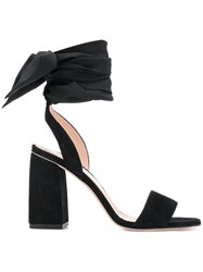 Red Valentino Ankle Tie Sandals Black