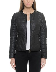 Forzieri Black Quilted Leather Women's Jacket