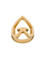 Givenchy Heart Charm Ring Gold
