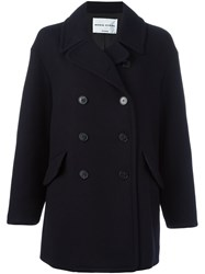 Sonia Rykiel By Double Breasted Coat Blue