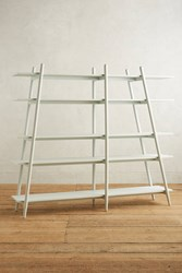 Anthropologie Musetta Asymmetrical Bookcase White