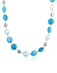 Antica Murrina Veneziana Frida Murano Glass Bead Necklace Blue