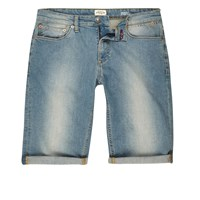 River Island Mens Light Blue Wash Skinny Fit Denim Shorts