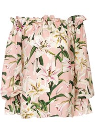 Dolce And Gabbana Floral Print Blouse Pink