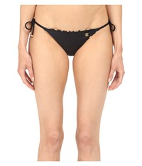 Roberto Cavalli Reversible Iconic Tanga Bottoms Nero Women's Swimwear Black