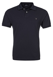 Gant Solid Pique Polo Shirt Marine Blue