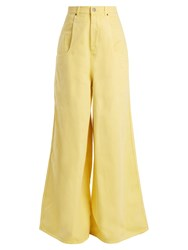 Martine Rose Wide Leg Jeans Light Yellow