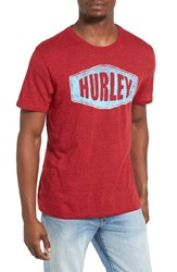 Hurley Men's Stationed Graphic T Shirt Gym Red