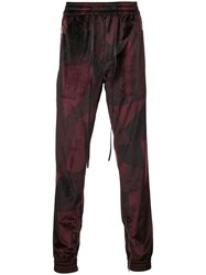 God's Masterful Children Abstract Track Pants Red