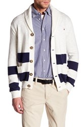 Gant Stripe Cardigan White