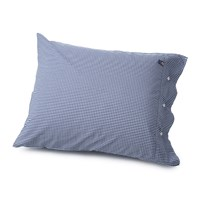Lexington Seaside Check Pillowcase Navy 50X75cm