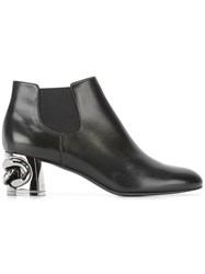 Casadei Chain Heel Chelsea Boots Women Calf Leather Leather Nappa Leather 39.5 Black