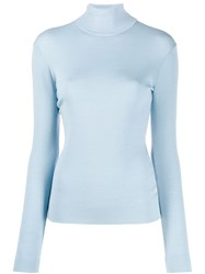 Givenchy Turtleneck Jumper Blue