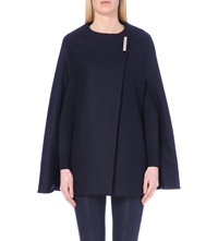 Ted Baker Minimalist Wool Blend Cape Navy