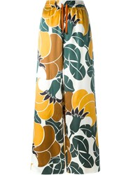 For Restless Sleepers Bold Floral Print Palazzo Pants Multicolour