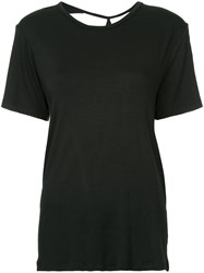 Kacey Devlin Collapse Back T Shirt Bamboo Spandex Elastane Black