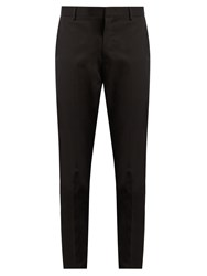 Lanvin Slim Leg Cotton Chino Trousers Black