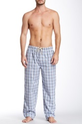 Majestic Lounge Crew Neck Tee And Broadcloth Pant Set Blue