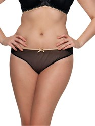 Curvy Kate Ellace Brazillian Briefs Black Champagne