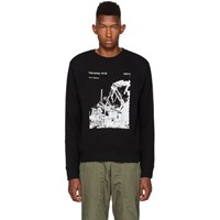 Off White Black Slim Ruined Factory Sweatshirt