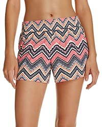 Jane And Bleecker Bleeker New York Smocked Waist Shorts Chevron Stripe