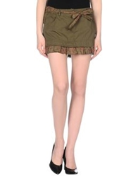 Daniele Alessandrini Mini Skirts Military Green