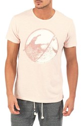 Sol Angeles Back Hack Graphic T Shirt Coral