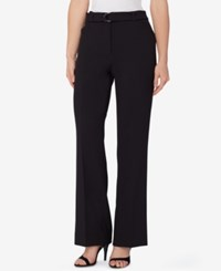 Tahari By Arthur S. Levine Asl Belted Crepe Trousers Black