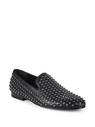 Saks Fifth Avenue Ronald Studded Loafers Silver Stud