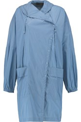 Tibi Invisible Shell Hooded Coat Azure