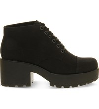 Vagabond Dioon Canvas Boots Black Canvas
