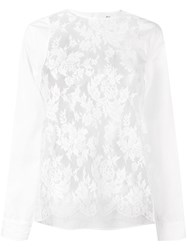 Ports 1961 Blouse With Lace Panels White