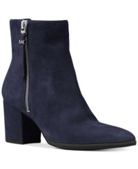Michael Kors Dawson Suede Booties Women's Shoes Admiral Blue