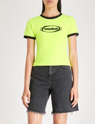Wasted Paris Ringer Jersey T Shirt Neon Yellow