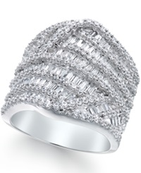 Macy's Diamond Baguette Cluster Ring 3 Ct. T.W. In 14K White Gold
