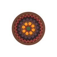 Images D'orient Round Bottle Coaster Sejjadeh Prune
