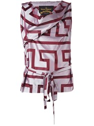 Vivienne Westwood Anglomania Geometric Print Flared Dress