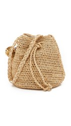 Hat Attack Raffia Pouchette Bag Natural