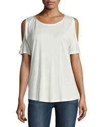 Paige Alessa Cold Shoulder Tee White