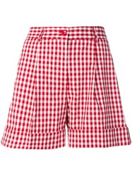 P.A.R.O.S.H. Gingham Print Shorts Red