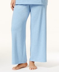 Nautica Plus Size Solid Pajama Pants Blue Ice