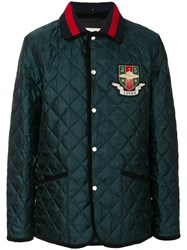 Gucci Loved Ufo Quilted Jacket Cotton Polyamide Green