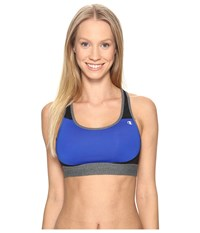 Champion Moderate Support Compression Bra Flight Blue Black Granite Heather Women's Bra