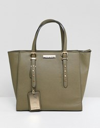 Carvela Studded Winged Tote Bag Green
